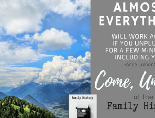 Time to Write Your Family History Stories